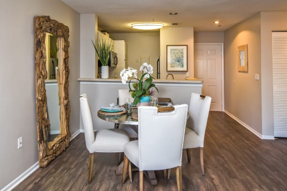 Open Concept Dining Room Area and Kitchen with Breakfast Bar