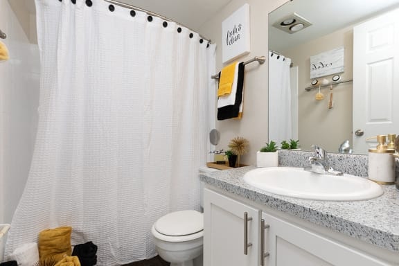 Spacious Bathroom with Shower with Tub