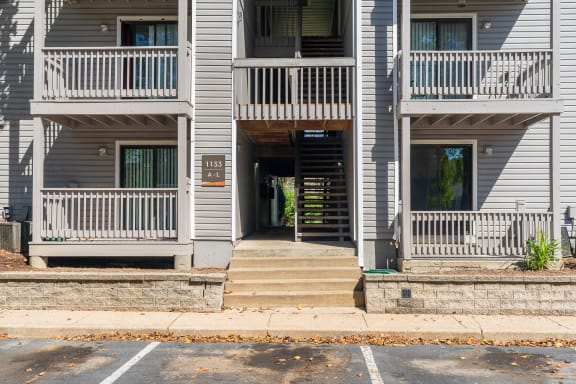 Exterior Balconies and Patios at The Finn