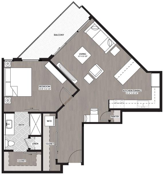 Floor Plan  1x1 F
