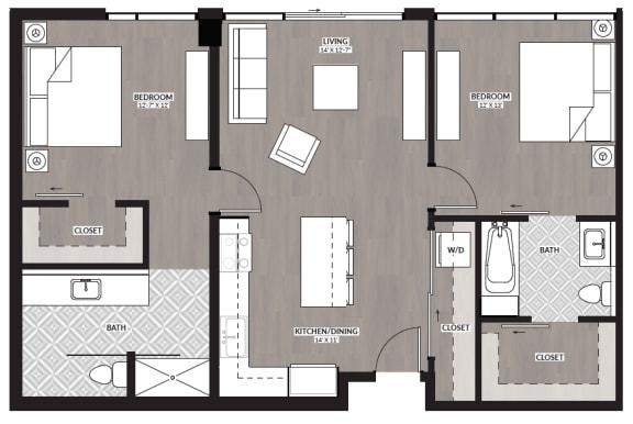 Floor Plan  2x2 G