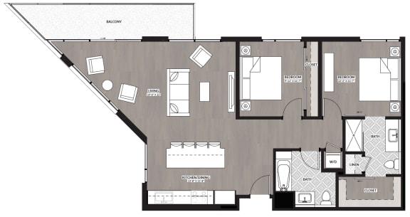 Floor Plan  2x2 J