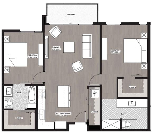 Floor Plan  2x2 K