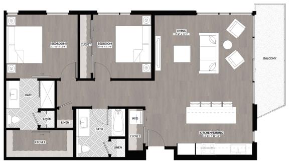 Floor Plan  2x2 L