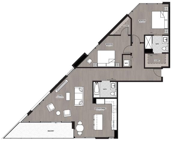 Floor Plan  2x2 M