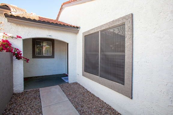 Apartment entrance at Orange Tree Village Apartments in Tucson AZ
