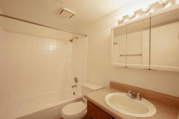 Bathroom at Casa Bella Apartments in Tucson AZ 4-2020