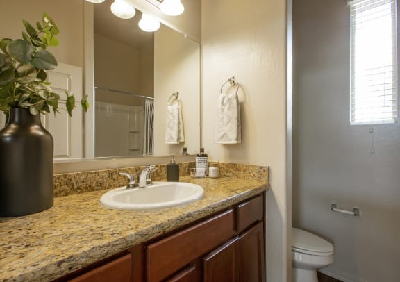 Bathroom Vanity at Casitas at San Marcos in Chandler AZ Nov 2020