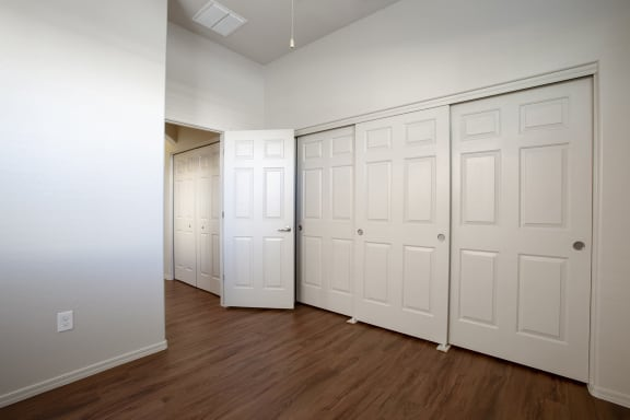 Closet space at Casitas at San Marcos in Chandler AZ Nov 2020