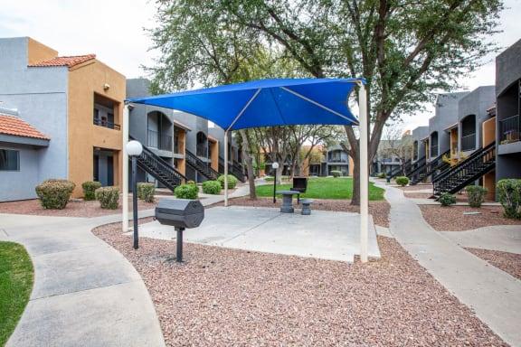 Community BBQ grill at Casa Bella Apartments in Tucson AZ 4-2020
