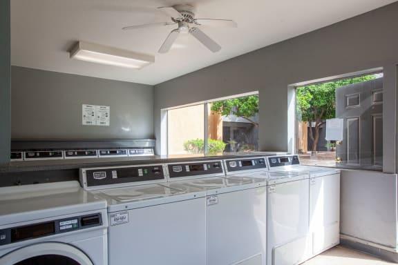 Community laundry facility at Casa Bella Apartments in Tucson AZ 4-2020