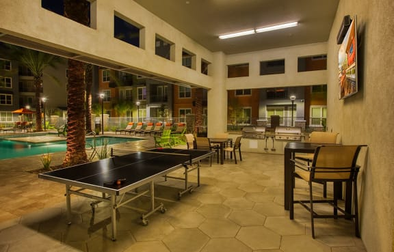 Community ping pong table at Tempo At McClintock Station in Tempe, AZ