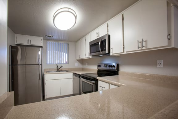 Kitchen at Orange Tree Village Apartments in Tucson AZ