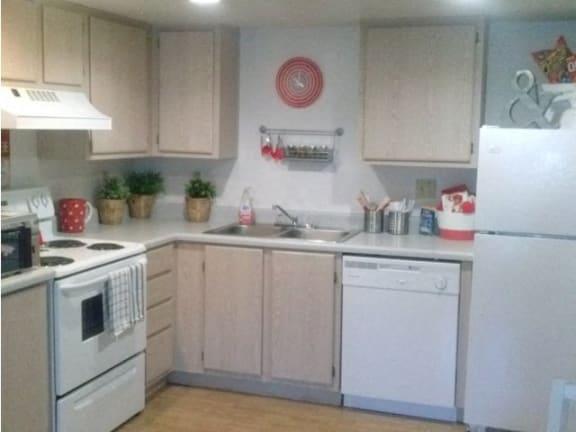 Kitchen at University West Apartments in Flagstaff AZ