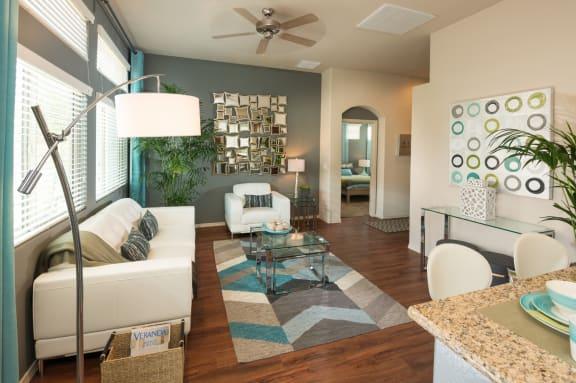 Living Room at Casitas at San Marcos in Chandler, AZ