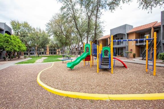 Playground at Casa Bella Apartments in Tucson AZ 4-2020