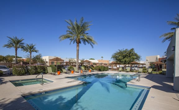Pool and Spa at Casitas at San Marcos in Chandler AZ Nov 2020