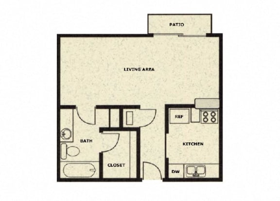 Studio floor plan at Wellington Estates in San Antonio, TX