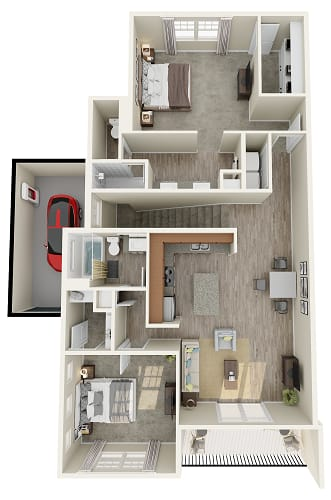 1 bedroom 1 bathroom floor plan image in Phoenix AZ