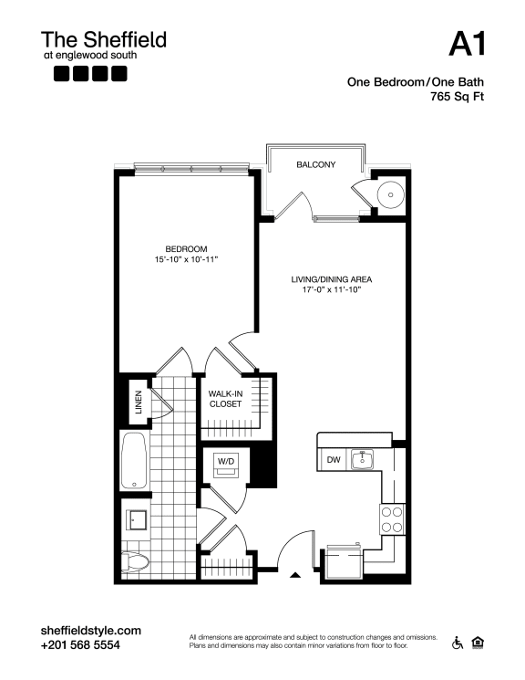A1 Floor Plan at The Sheffield at Englewood South