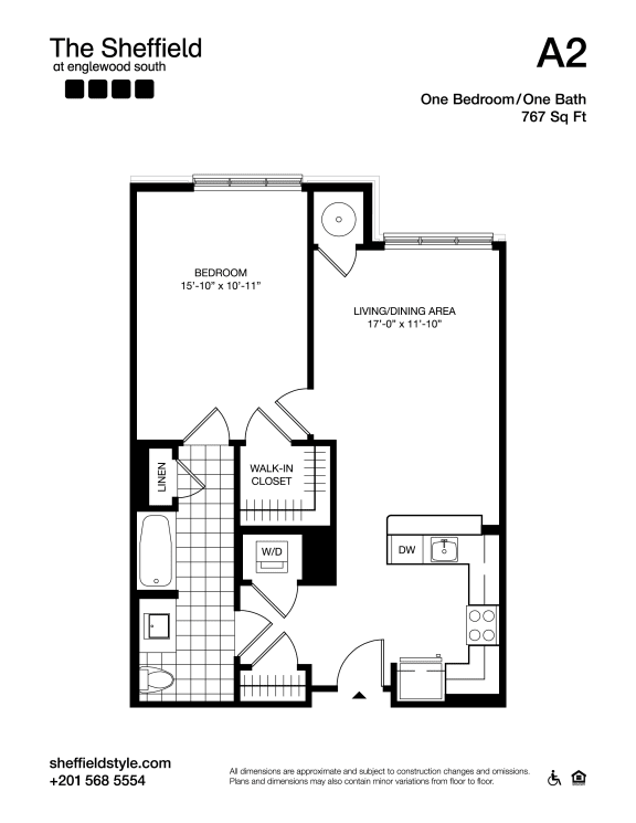 A2 Floor Plan at The Sheffield at Englewood South