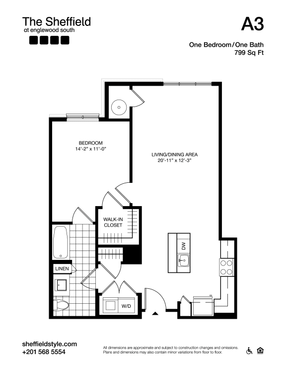 A3 Floor Plan at The Sheffield at Englewood South