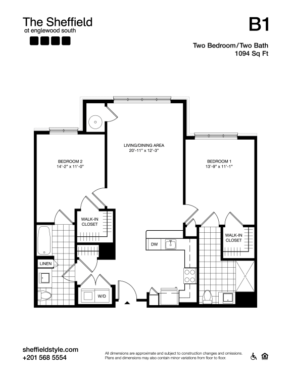 B1 Floor Plan at The Sheffield at Englewood South