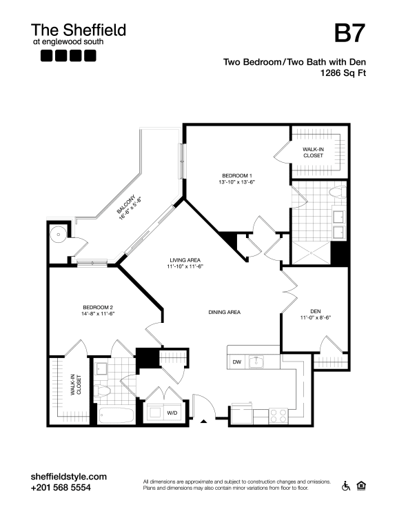 B7 Floor Plan at The Sheffield at Englewood South