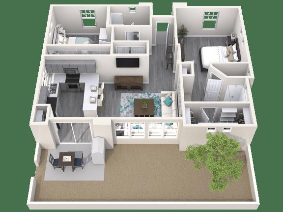 The Retreat Floor Plan at Avilla Parkway, Texas