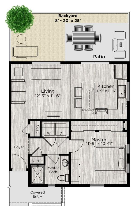 The Alcove Floor Plan at Avilla Eastlake, Colorado, 80241