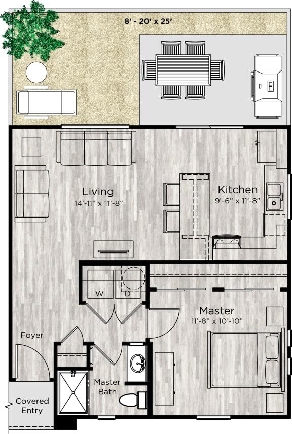 The Alcove Floor Plan at Avilla Enclave, Mesa, AZ, 85212