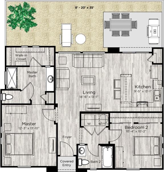 The Retreat Floor Plan at Avilla Enclave, Mesa, AZ