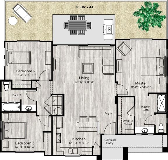 The Haven Floor Plan at Avilla Enclave, Mesa, 85212