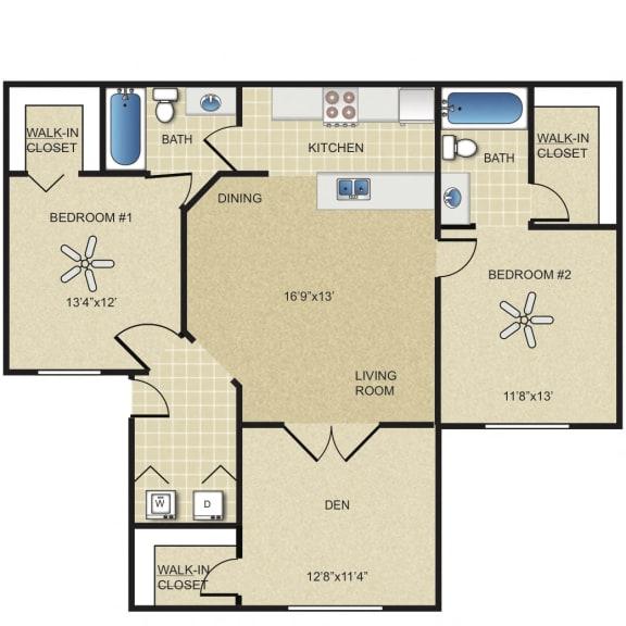 Floor Plan  3 Bedroom Apartment for Rent Vero Green in Vero Beach