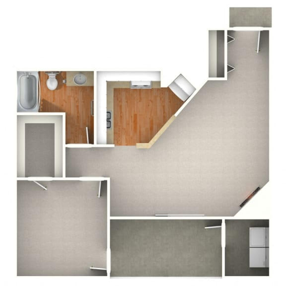 Floor Plan  Dove 1 Bedroom for Rent at Anatole Apartment Homes Daytona Beach