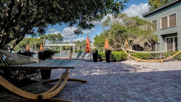 fountains at forestwood outdoor hammocks