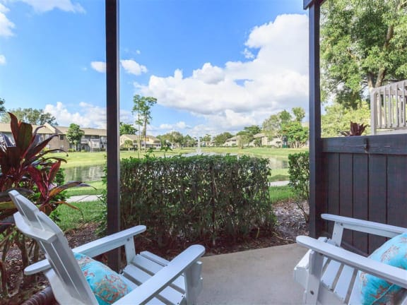 model unit patio view