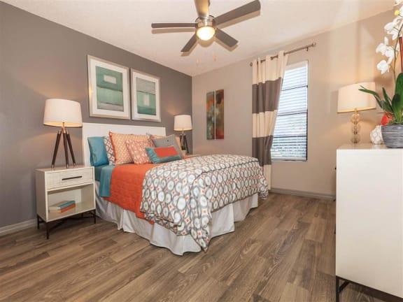 model unit spacious second bedroom