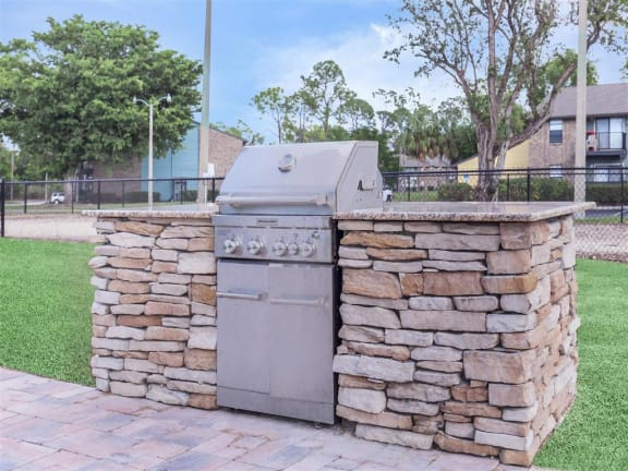 apartment community outdoor grill