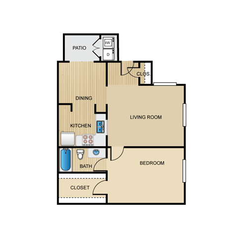 Floor Plan  Palazzo 1 Bedroom Apartment for Rent Granite at Tuscany Hills San Antonio