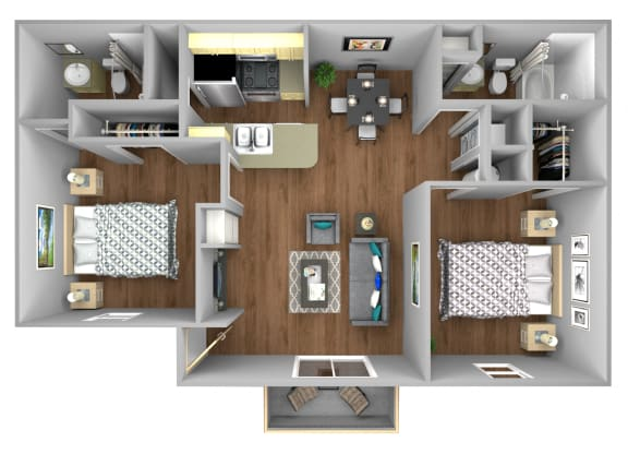 Floor Plan  Seagrape 2 Bedroom Apartment for Rent at Fountains of Forestwood in Fort Myers
