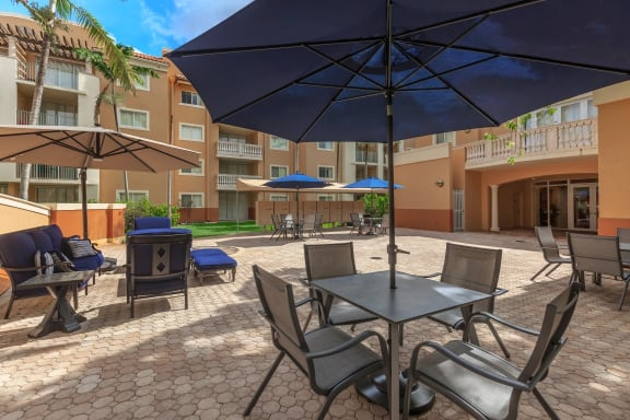 Shamrock of Sunrise apartments pool deck
