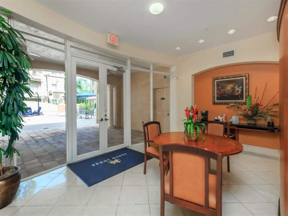 shamrock of sunrise fl apartments clubhouse interior entrance