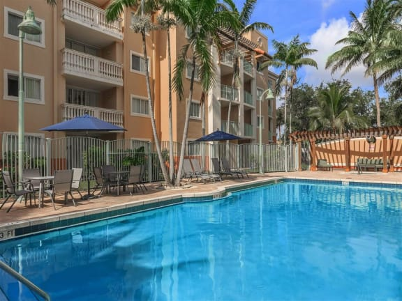 shamrock of sunrise fl apartments view of pool & jacuzzi