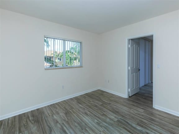 updated unit bedroom flooring