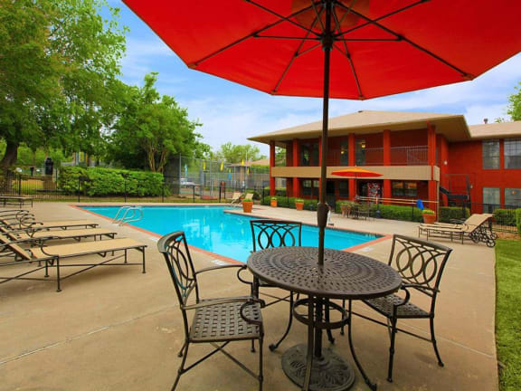 the granite at tuscany hills san antonio apartments pool outdoor seating set