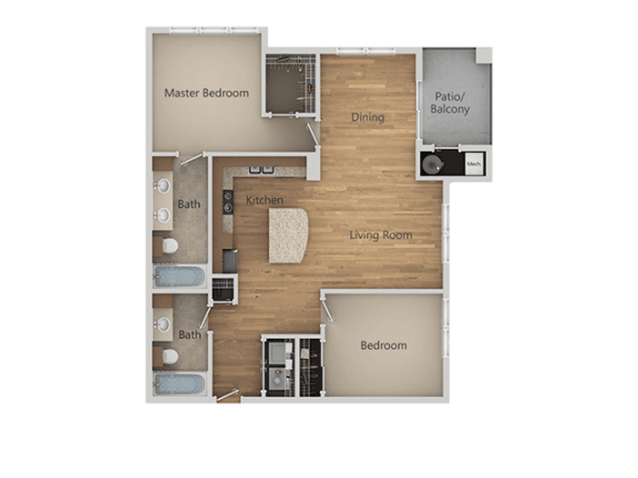 B1 2Bed_2Bath at Avena Apartments, Thornton, 80233