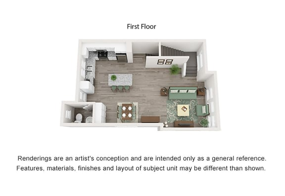 2 Bedroom Trilevel Living Area