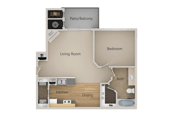 A1 1Bed_1Bath at Indigo Creek Apartments, Thornton, Colorado