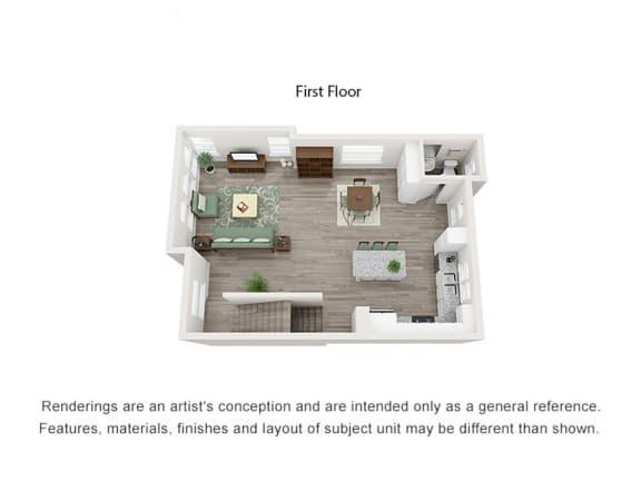 3 Bedroom Trilevel Living Area